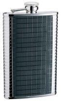 Фляга S.Quire 0,27 л, сталь+натуральная кожа, вставка черная с рисунком, D-Pro купить