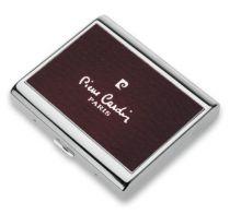 Портсигар Pierre Cardin, сплав цинка, покрытие хромированное + красная искуств.кожа. купить