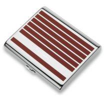Портсигар Pierre Cardin, сплав цинка, покрытие хромированное + красно-оранжевый лак купить