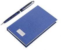Набор Pierre Cardin: ручка шариковая + блокнот.Корпус- латунь, акрил, отделка и детали дизайна -хром купить