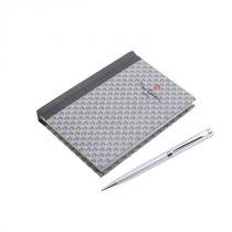 Набор Pierre Cardin: ручка шариковая + блокнот. Корпус- латунь, лак, отделка и детали дизайна -хром купить