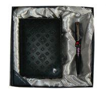 Набор: Обложка для паспорта и ручка. Цвет черный. купить