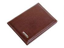 Бумажник для водителя S.Quire, натуральная кожа темно-коричневая матовая 100*135*15 мм купить