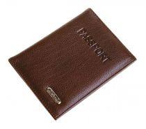Обложка для паспорта S.Quire, натуральная кожа темно-коричневая матовая 100*135*15 мм купить