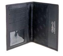 Обложка для паспорта S.Quire, натуральная кожа черная матовая 100*135*15 мм купить