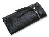 Ключница S.Quire с замком, натуральная кожа черная матовая 132x68x23 мм купить
