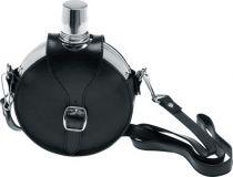 Фляга S.Quire 0,42 л, сталь, чехол искусственная кожа черный цвет купить