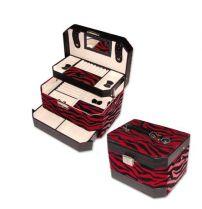 """Шкатулка для украшений, цвет """"красный + черный"""", 23,3х17х15,5 см купить"""