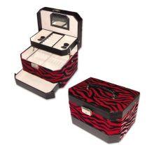 """Шкатулка для украшений, цвет """"красный + черный"""", 19х14,5х13,5 см купить"""