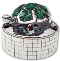 Черепаха, музыкальная шкатулка серебристого цвета с цветными кристаллами купить