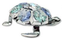 Черепаха, миниатюра серебристого цвета с цветными кристаллами купить