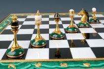 Шахматы из камней (малахит) купить