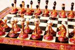 Шахматы из камней (родонит) купить