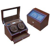 Электромеханическая шкатулка для 4-х часов с автоподзаводом, арт. AFN-WW101C-D от Aficionado, Испания купить