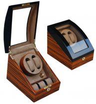 Электромеханическая шкатулка для 2-х часов с автоподзаводом, арт. AFN-WW102RW от Aficionado, Испания купить