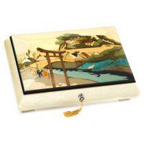 Шкатулка музыкальная для ювелирных украшений из коллекции Японские гравюры, арт. GIG 40/5/W от Giglio, Италия купить