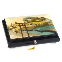 Шкатулка музыкальная для украшений (коллекция Японские гравюры) арт. GIG 40/6/В от Giglio Италия купить