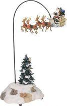 600735 Новогодний сувенир Дед Мороз на оленях Luville (h=33 см; s=15 см) купить