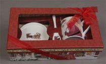BR-M2-SET Чайный набор в подарочной коробке Mister Christmas (28х16х8 см) купить