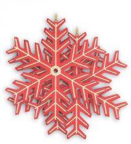 B 100-SNOW-100 Набор украшений Снежинка Mister Christmas (d=100 мм; цвет: красный; золотой) купить
