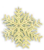B 100-SNOW-103 Набор украшений Снежинка Mister Christmas (d=100 мм; цвет: золотой) купить