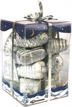 B 60-ORA-304 Набор украшений Коктейль Mister Christmas (h=60 мм; цвет: серебряный) купить