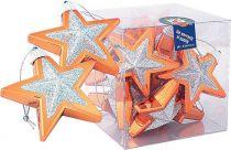 B 60-STAR-109/403 Набор украшений Звездочки Mister Christmas(d=60мм; цвет:бронзовый,золотой) купить