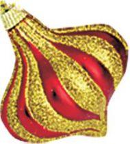 B 70-O-100 Набор украшений Луковица Mister Christmas (h=70 мм; цвет: красный, золотой) купить
