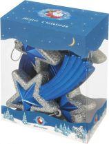 B 80-STAR-201/101 Набор украшений Кометы Mister Christmas (h=80 мм; цвет: синий, серебряный) купить