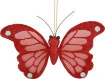 CCB-6/2 Украшение Бабочка Mister Christmas (h=15 см; цвет: красный) купить