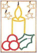 FA-B-405 Панно светодинамическое Свеча Mister Christmas (l=1 м; h=1,5 м; разноцветный; 220В) купить
