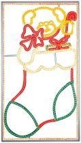 FA-B-406 Панно светодинамическое Носок Mister Christmas (l=1 м; h=1,86 м; разноцветный; 220В) купить