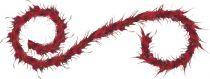 FBM-108/5 Украшение интерьерное Гирлянда Mister Christmas (l=2,4 м; цвет: бордовый) купить