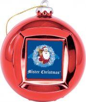 FRAME BALL/1 Шар цифровая фоторамка Mister Christmas (d=65 мм; цвет: красный) купить