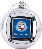 FRAME BALL/4 Шар цифровая фоторамка Mister Christmas (d=65 мм; цвет: серебряный) купить