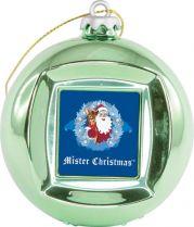 FRAME BALL/5 Шар цифровая фоторамка Mister Christmas (d=65 мм; цвет: зеленый) купить