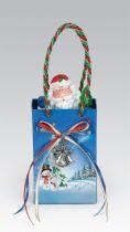 G10360 Композиция Подарочный пакет в ассортименте Mister Christmas (h=13 см, музыка, движение) купить