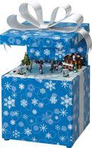 G68931 Шкатулка Подарок Mister Christmas (h=26 см; цвет: синий; музыка, движение) купить