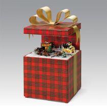 G68932 Шкатулка Подарок Mister Christmas (h=26 см; цвет: красный; музыка, движение) купить