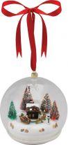 G69452 Композиция Шар Mister Christmas (d=12 см; цвет: белый; музыка, движение) купить
