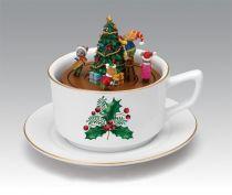 G69882 Композиция Чашка Mister Christmas (h=14 см, музыка, движение) купить