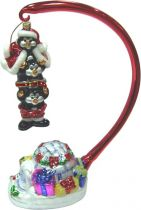 GB-12/1 Набор игрушек из стекла в деревянной коробке Пингвины Mister Christmas (h=26 см; 1 шт.) купить