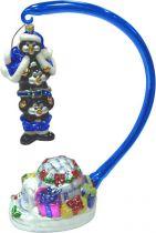 GB-12/3 Набор игрушек из стекла в деревянной коробке Пингвины Mister Christmas (h=26 см; 1 шт.) купить