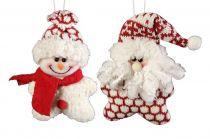 HM-002R Мягкая игрушка Дед Мороз, Снеговик Mister Christmas (h=13 см; цвет: красный) купить