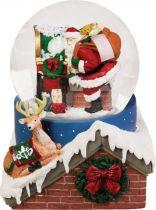 KH-MWG-2 Снежный шар Mister Christmas (d=100 мм; музыка, движение) купить