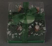 KK-9-GR Свеча декорированная Mister Christmas (цвет: зеленый; h=8 см) купить