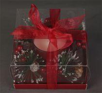 KK-9-R Свеча декорированная Mister Christmas (цвет: красный; h=8 см) купить