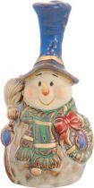 KN-006/2 Статуэтка керамическая в деревянной коробке Снеговик Mister Christmas (h=17 см) купить