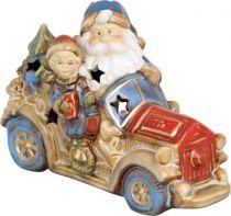 KN-006/3 Статуэтка керамическая в деревянной коробке Снеговик Mister Christmas (h=17 см) купить