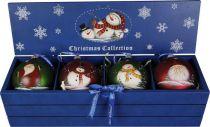 LH-B10-SET/4 Набор шаров в деревянной коробке Mister Christmas (4 шт.) купить